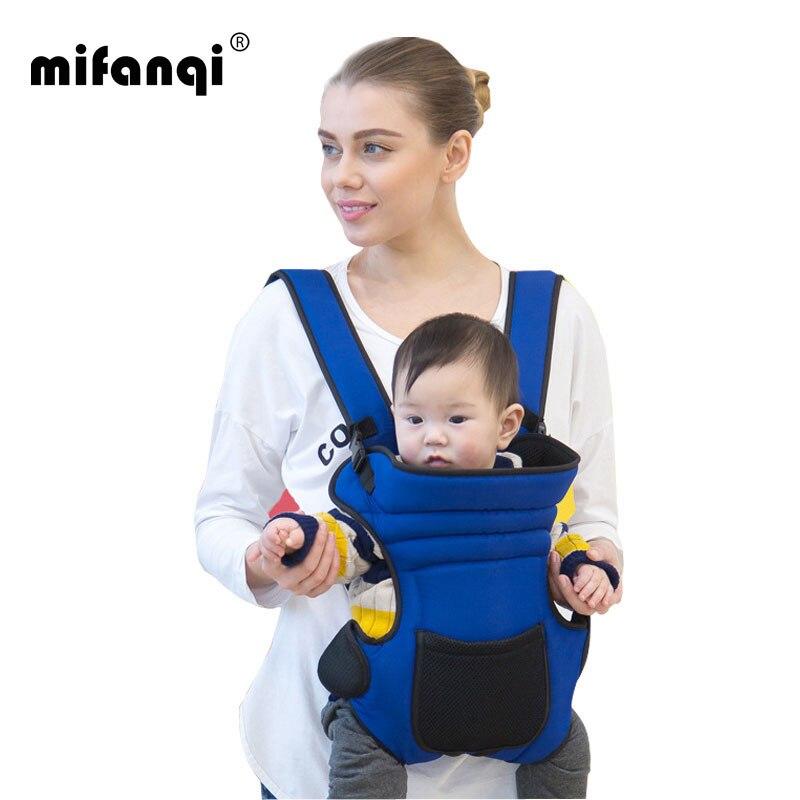 Ergonomisk Baby Carrier 4-6 Måneder Front Carry Infant Backpack Carriers 20kg Echarpe Porte Bebe Bomuld Mochila Portabebe