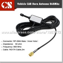 free shipping 1pc 868MHZ Antenna 3DBI high gain Omni Directional Antenna with RP-SMA male. 3m cable