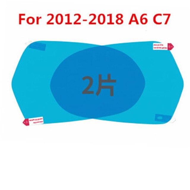 Film imperméable pour rétroviseur de voiture   Pour AUDI Q3 Q5 Q7 A3 A5 A4 B8 B9 A6 C6 C7 accessoires de voiture 2 pièces/lot