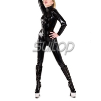 0.6mm heavy high quality glued latex tights sexy zentai suit rubber fetish