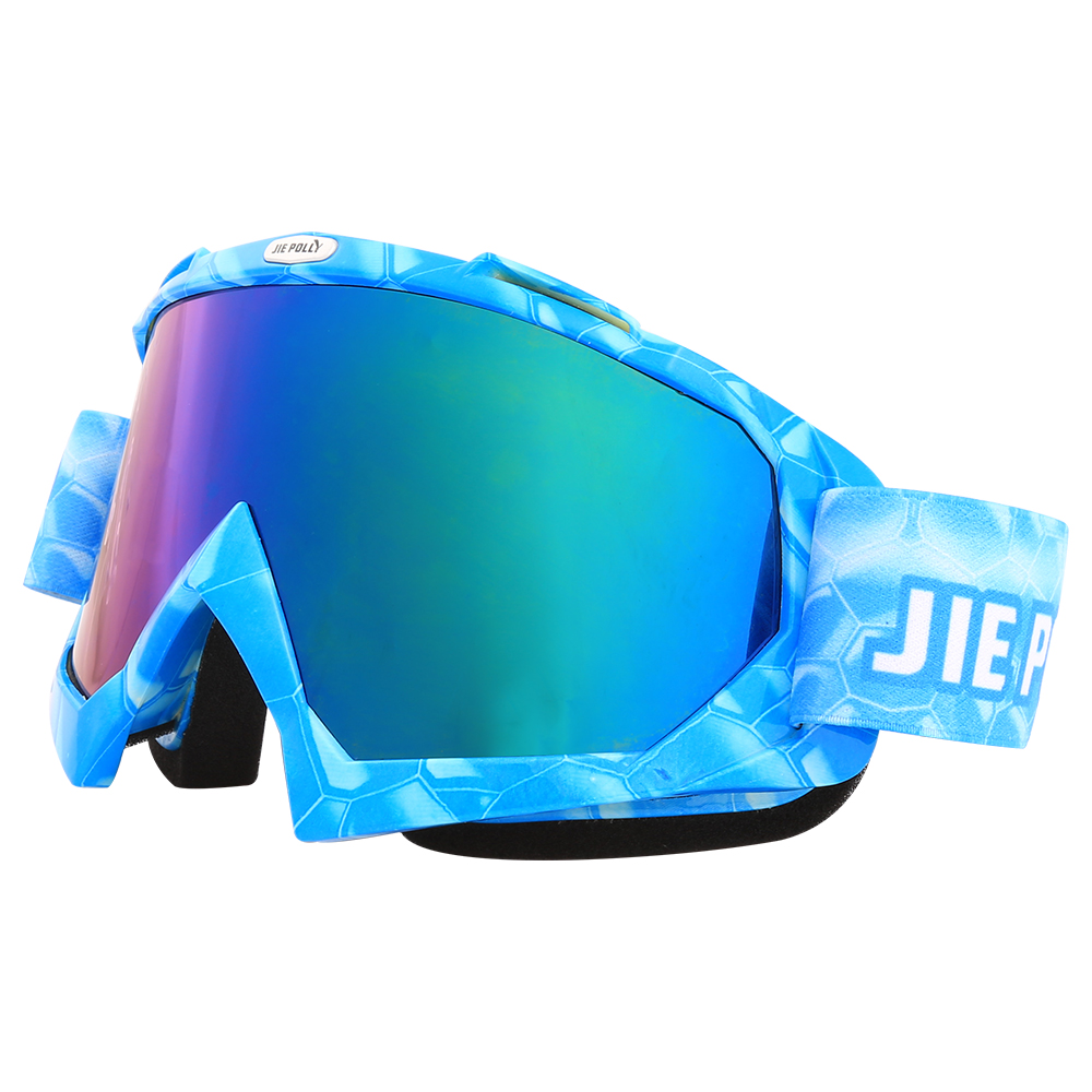 Jiepolly Ski Eyewear Skiing Goggles Snowboarding Skating Sunglasses UV Protection Anti-fog Anti-slip Helmet Glasses Women Mens