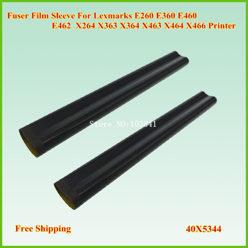10PCS Compatible A Grade Fuser Film Sleeve for Lexmark E260 E360 E460 E462 X264 X363 X364 X463 X464 X466 Printer Fixing telfon
