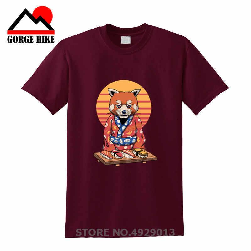 和風かわいいシャイ赤パンダマスター tシャツ男性おかしい選択的社会 Tシャツ男性かわいいラクーン抗社会 Tシャツシャツ