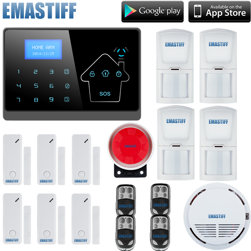 wireless zones SMS GSM850/900/1800/1900Mhz burglar alarm panel,home security PSTN GSM alarm system with french,english voice yl 007m2g touch keypad gsm sms wireless home security burglar alarm system rfid access control 850 900 1800 1900mhz 433mhz