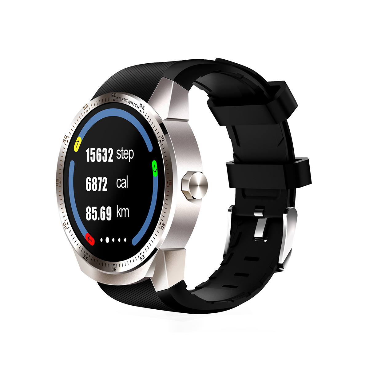 GPS Android Smart Watch Phone with Heart Rate Monitor Pedometer MTK6572A 512MB 4GB WIFI GSM Wearable Device Men Wrist Smartwatch цена и фото