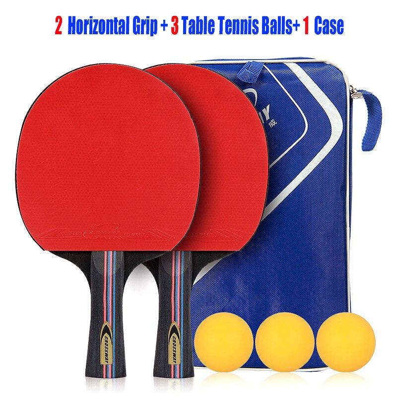 CROSSWAY Tafeltennis Racket Professionele Horizontale Dubbele Grip - Sportrackets - Foto 4