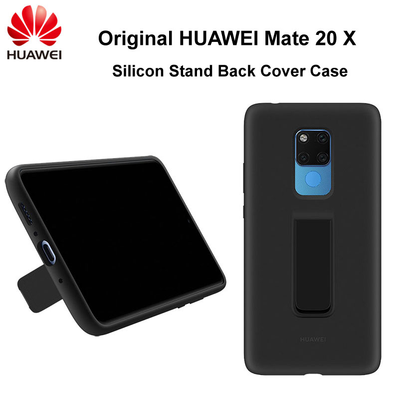 Original Official Huawei Mate 20 X Back Cover Case Stand Soft Liquid Silicon Built-in Microfiber for Mate 20XOriginal Official Huawei Mate 20 X Back Cover Case Stand Soft Liquid Silicon Built-in Microfiber for Mate 20X