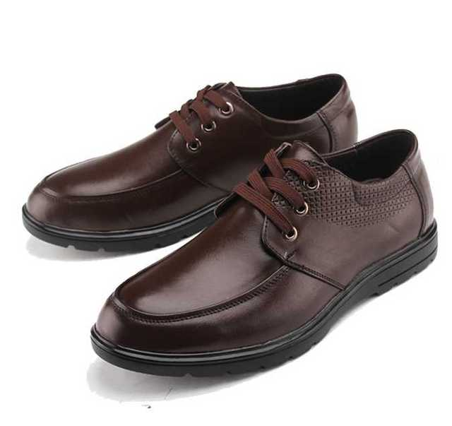 Осень 2017 Мужчин Повседневная Обувь Дышащая Кожа Повседневная Обувь Человек Кружева Sapato Masculino Zapatos Casuales Sapatos Chaussure Homme