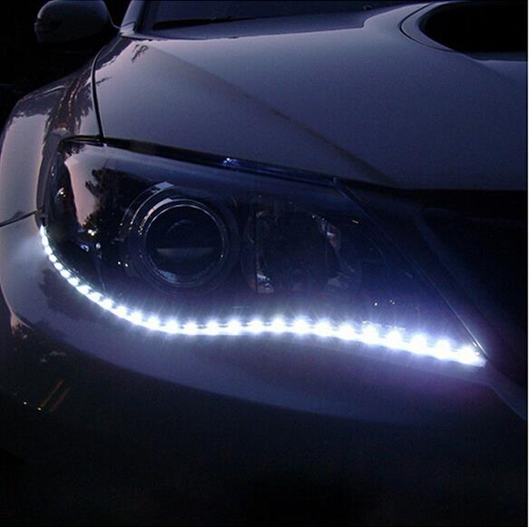 1 par Car-styling Car Auto Decorativo flexible LED Strip 12V 30cm 15SMD Car LED Daytime Running Light Car LED Strip Light DRL