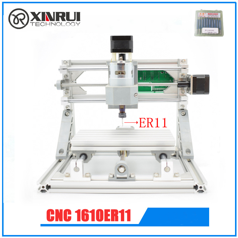 CNC1610 er11  GRBL DIY laser CNC machine,work area 16x10x4.5cm,3 Axis Pcb Milling Machine, Wood Router ,Pvc Mill Engraver, cnc router wood milling machine cnc 3040z vfd800w 3axis usb for wood working with ball screw