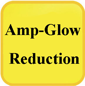 amp-glow reduction