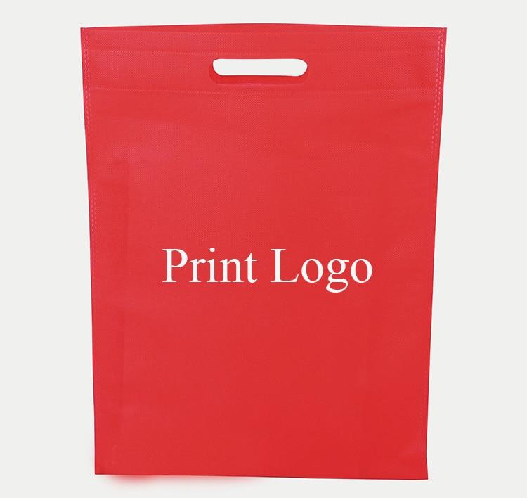 20 pieces black/white/orange/pink/blue 20 pieces/lot non woven shopping bag spot supplies eco friendly bag blank storage bags