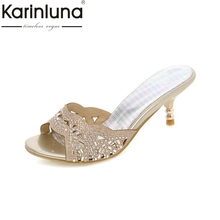 Распродажа большие размеры 34-43 женские сланцы летняя повседневная обувь со стразами открытые сандалии с открытым носком