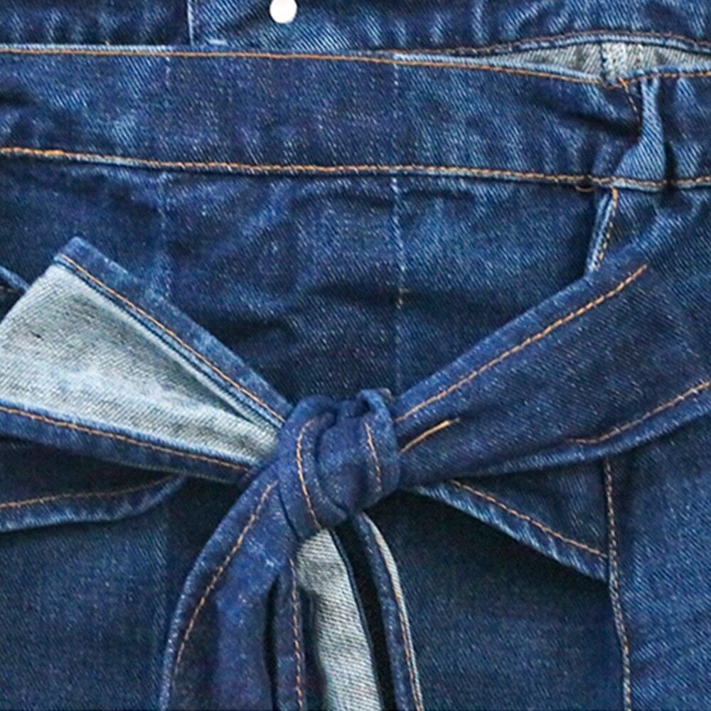 FTGSDONG 2019 Лето 2 шт Джинсовый комплект из двух частей шорты и топ комплект уличный стиль на шнуровке Топ без бретелей + сексуальные мини ремень для шортов - 6