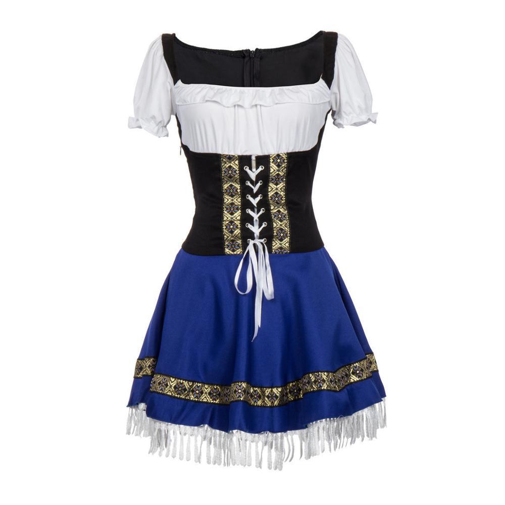 Ladies Oktoberfes Wench Beer Maid Gretchen German Heidi Fancy Dress Up Costume