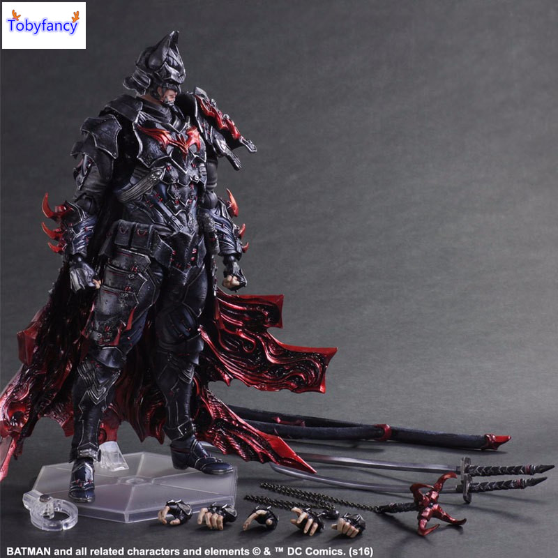 ФОТО Tobyfancy Bushido Batman Action Figure Play Arts Kai PVC Toys 270mm Anime Warrior Bat Man Playarts Kai Model