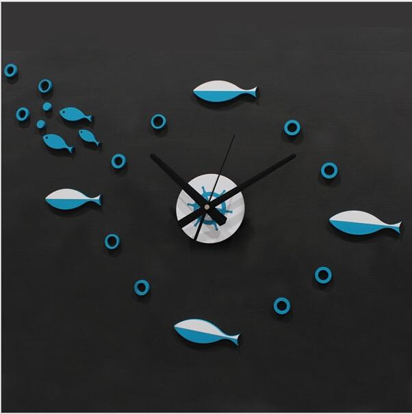 bref de mode cuisine salon salle de bains poissons bulle quartz aiguille bricolage auto adhsif - Pendule Salle De Bain