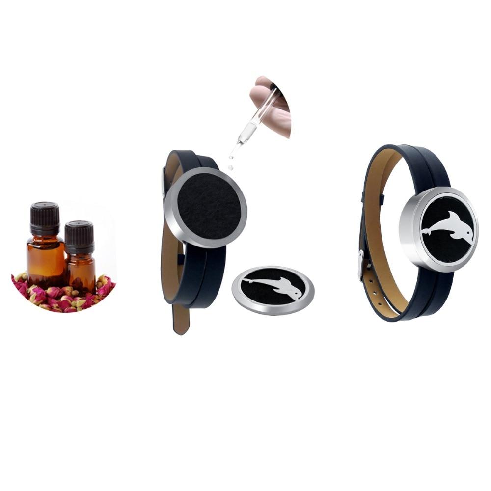 ZP-BS504-0 Diffuser Leather Locket Bracelet-7