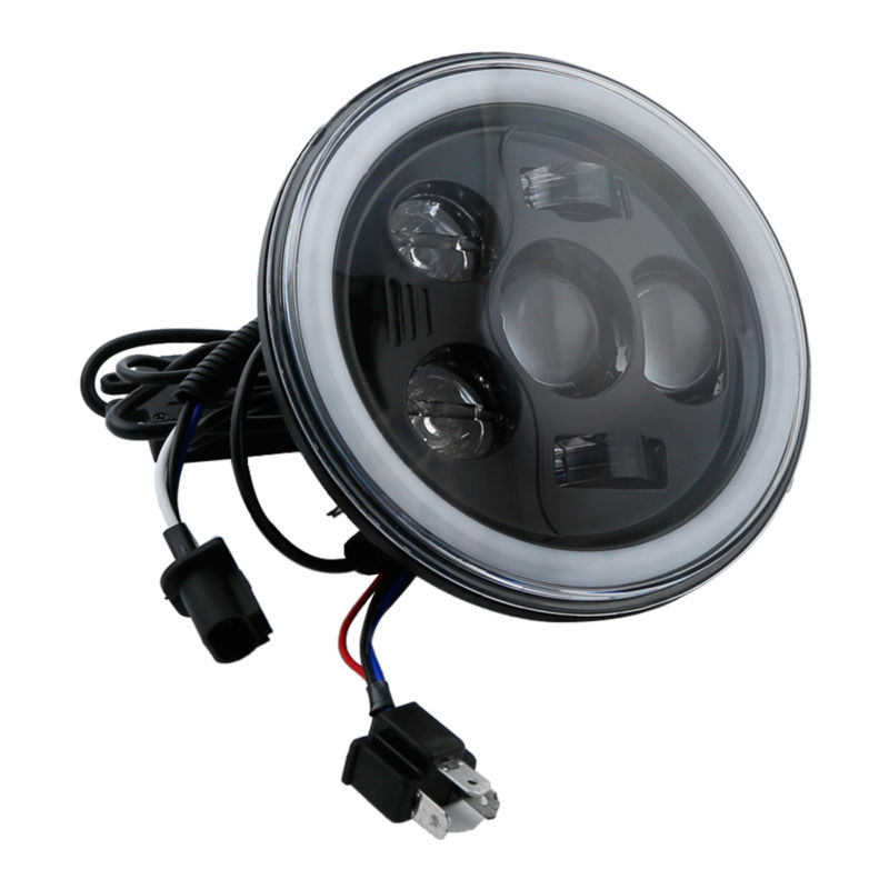 купить Bluetooth 7 LED Headlight RGB Angel Eye Halo For Harley Davidson Motorcycle недорого