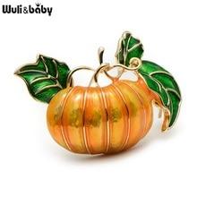 Halloween Pumpkin Brooch New Alloy Green Leaves Orange Enamel Pumpkin Women's  Weddings Banquet Brooch Pins New Year's Gifts