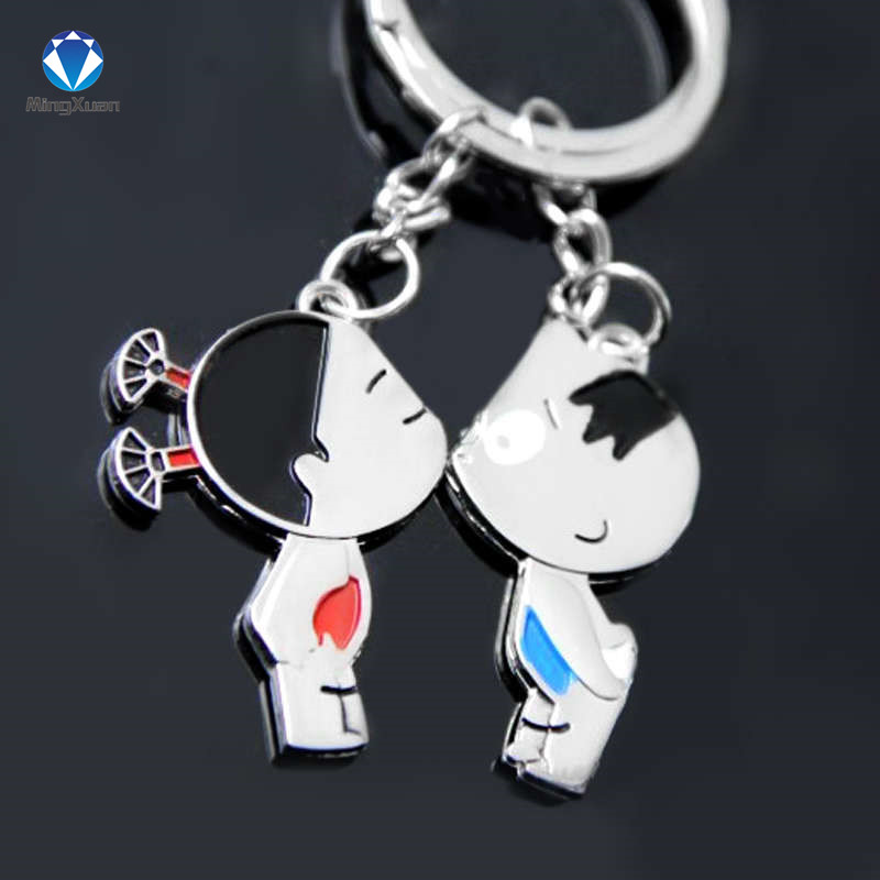 Novelty Items Casual Par Kärlek Keychain Cartoon Key Chain Lovers - Märkessmycken - Foto 4