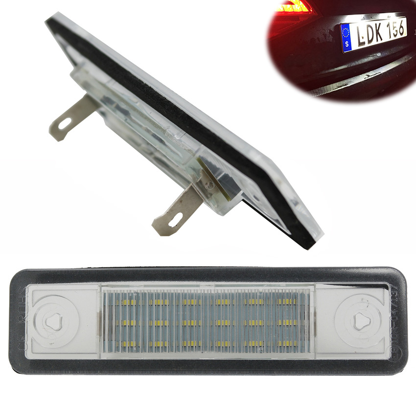 1Pair Canbus Error Free LED License Plate Light For Opel Astra G Saloon Astra F Estate Corsa B Zafira A Omega A Vectra B 1pair canbus free led car license plate light number plate lamp for opel vectra c estate 2002 2003 2004 2005 2006 2007 2008
