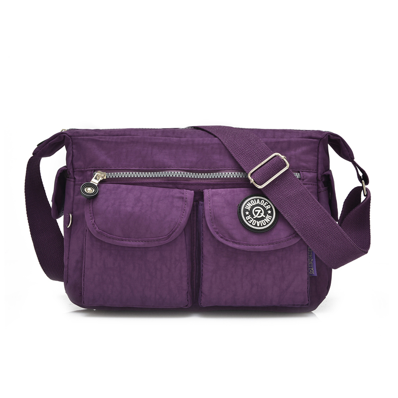 ce8b13f0cdbd8 المرأة الأزياء حقيبة ساعي لطيف الإناث الطباعة سستة النايلون حقيبة كتف حقيبة  الإناث السفر Crossbody أكياس