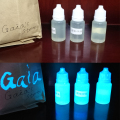 Varnish based Transparent UV Reactive Blacklight Paint, invisible Under daylight, but glow under UV light ink
