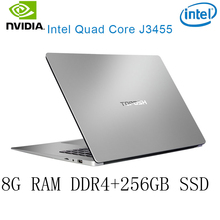 P2-40 8G RAM 256G SSD Intel Celeron J3455 NvIDIA GeForce 940M Gaming laptop keyboard and OS language available for choose