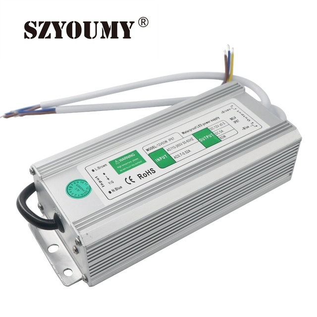 szyoumy dc 12v 60w ip67 waterproof electronic led driver outdoor