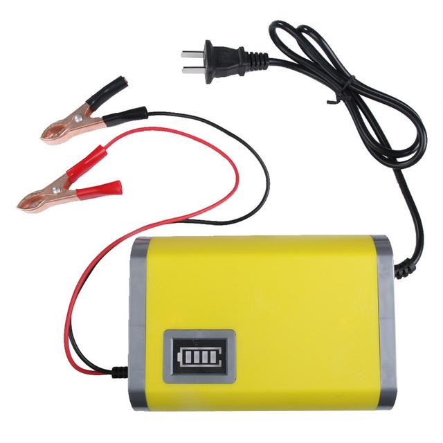 Novo Portátil Adaptador de Alimentação 12 V 6A Carro Motocicleta Auto Carregador de Bateria EUA Plug de Carregamento Inteligente Máquina Atacado