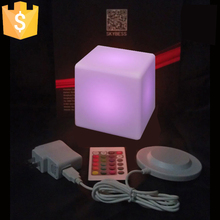 13CM LED square night light glowing decorative led cube lumineux for table lamp room mood light