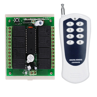 12V 8CH RF Wireless Remote Control Switch System Transmitter And Receiver 315mhz 433mhz Z Wave In