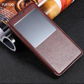 luxury original case for samsung galaxy note4 note 4 n910f pu leather holster view phone flip window retro stand bag cover