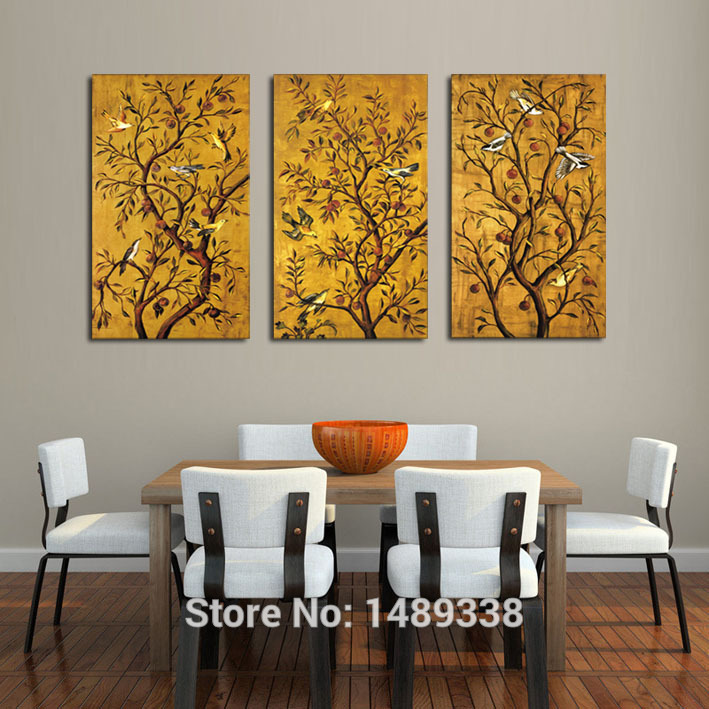 Superior Aliexpress.com : Buy 3 Panel Framed Art Wall Print Painting Large Art HD  Picture Home Decoration For Living Room Modern Tree Oil Painting F/329 From  ...