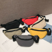 цена на Casual Waist Bag For Women Girls Belt Bag Solid Kids Fanny Pack Black Red Yellow