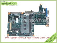 board FMUSY1 A-2115 A For toshiba Portege R500 laptop motherboard intel U7600 CPU 1.2Ghz DDR2 Mainboard Full Tested