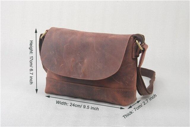 2016 New Fashion Women Shoulder Bag Casual Men Crossbody Bag Genuine Leather Messenger Bag Crazy Horse Leather Men Bag Wholesale