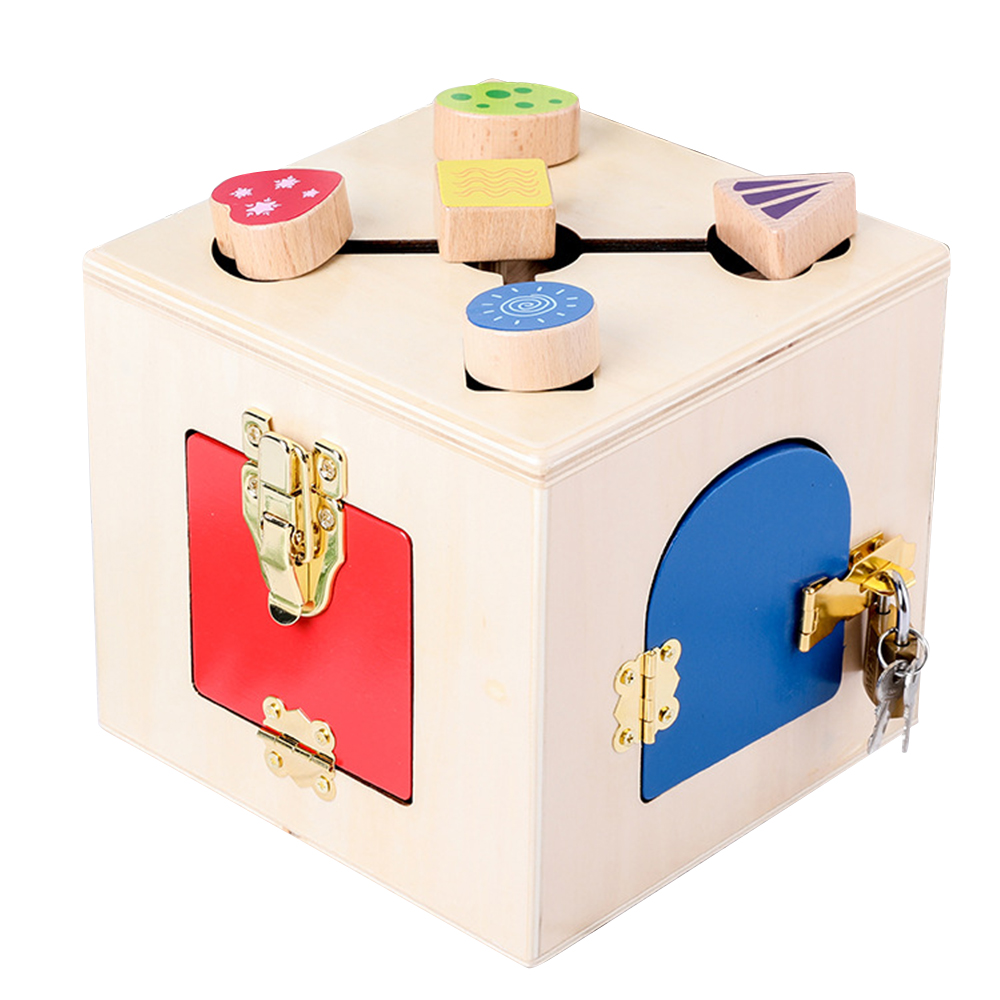 Montessori jouets en bois serrure boîte jouet Montessori éducatif en bois jouet bois jouets sensoriels Montessori matériaux enfants jeux