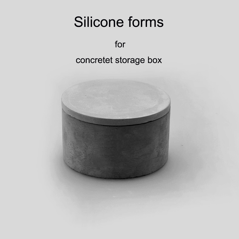 silicone form for concrete storage box DIY mini box silicone molds Concrete jewellery box molds