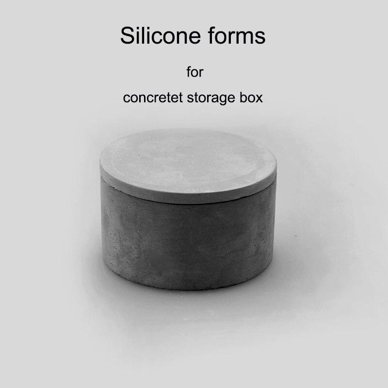 Forme en silicone pour boîte de rangement en béton bricolage mini boîte moules en silicone moules de boîte à bijoux en béton