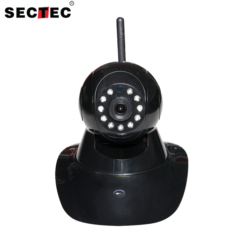 саундбар monitor audio sb 4 black SECTEC Black Two Way Audio Baby Monitor WiFi Wireless IP Camera CCTV Home Security Camera IR Night Vision Pan Tilt CCTV Camera