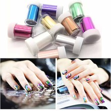 цены 100*4cm/roll Matte Color Nail Art Transfer Foil Holographic Nail Design Holo Stickers Laser Tips Decals For Manicure