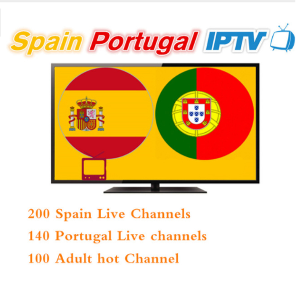 12 Months Spain Portugal IPTV Subscription 500+HD LIVETV For Spain Portuga IPTV Include Eleven Sports For Enigma2 M3U Smart Tv