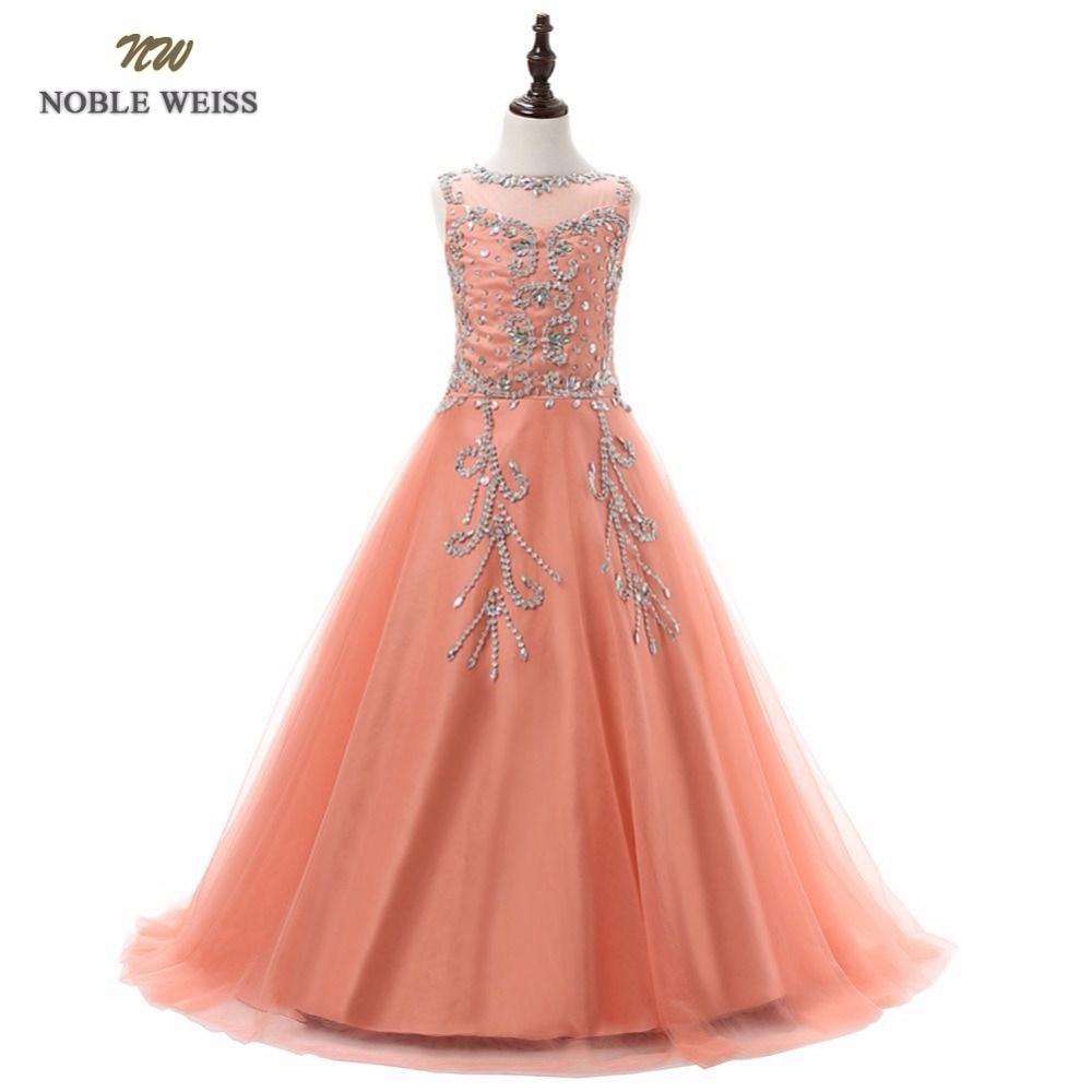 NOBLE WEISS long flower girl dress zipper back holy communion dress ...