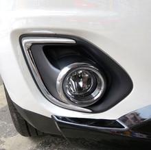 Бесплатная доставка ABS Chrome передние противотуманные свет лампы чехол Накладка для 2013 Mitsubishi ASX стайлинга автомобилей