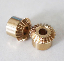 2pcs freeshipping 0.5M-20T Precision copper bevel gear--inner hole:3mm
