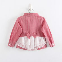 Girls Fashion Plaid font b Blouses b font Long Sleeves Shirts For Girls Children Cotton Shirts