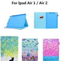 Apple Ipad Hava 1 için 2 Kılıfları Yüksek kalite PU Deri Çevirin iPad Için standı Kedi Sevimli Durumda Air2 ipad6 ipad5 Kapak Funda Cilt kabuk