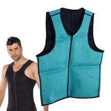 Breathable Men Slimming Zipper Vest Body Shaper Waist Trainer Corset Man Sweat Shirt Fat Burner Underwear Mens Tank Tops